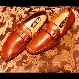 Ferrera Men's Dress Leather Shoes, Size 10